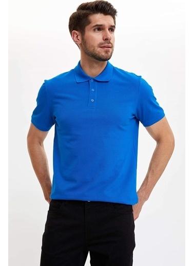 DeFacto Polo Yaka Regular Fit T-Shirt Mavi